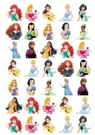 Disney Princess  Stand Up Cupcake Toppers